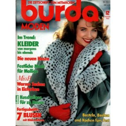 burda Moden 12/Dezember 1989 - Warme Sachen