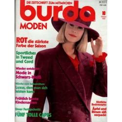 burda Moden 10/Oktober 1989 - Rot die stärkste Farbe