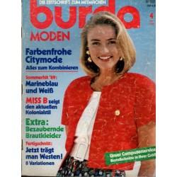 burda Moden 4/April 1989 - Farbenfrohe Citymode