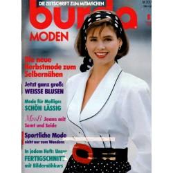burda Moden 8/August 1989 - Weisse Blusen