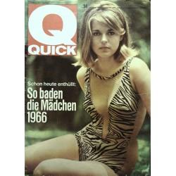 Quick Heft Nr.34 / 22 August 1965 - So baden die Mädchen 1966