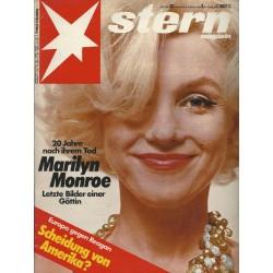stern Heft Nr.32 / 5 August 1982 - Marilyn Monroe