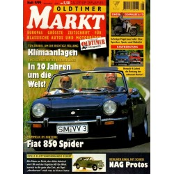 Oldtimer Markt Heft 9/September 1999 - Fiat 850 Spider