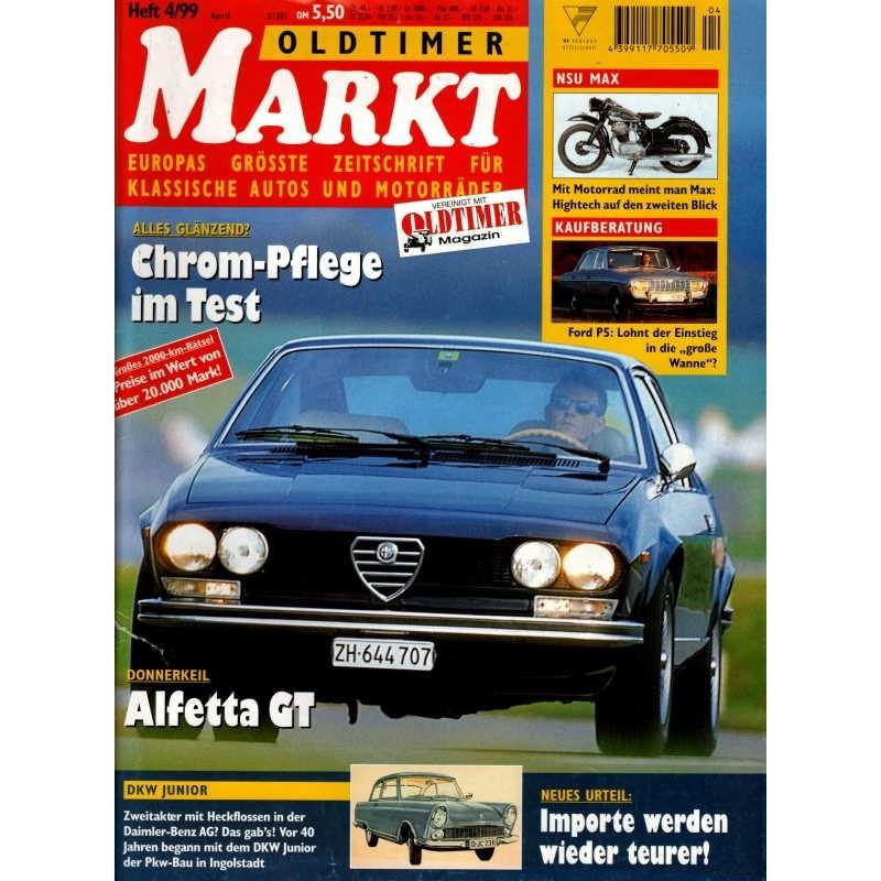 Oldtimer Markt Heft 4/April 1999 - Alfetta GT