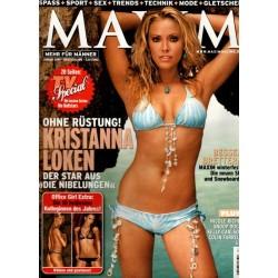 Maxim Januar 2005 - Kristanna Loken