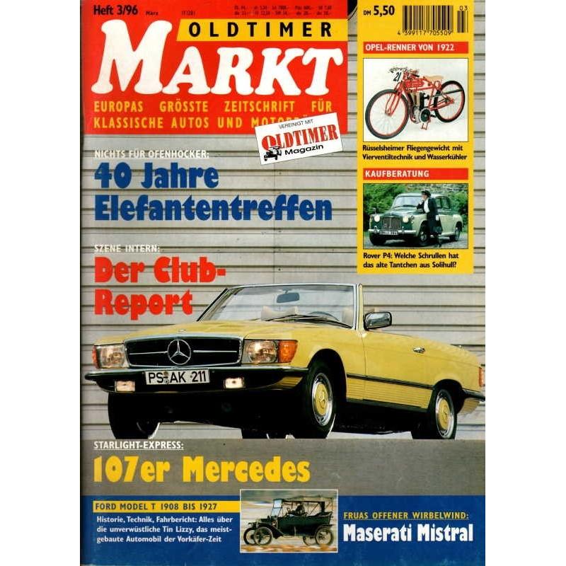 Oldtimer Markt Heft 3/März 1996 - 107er Mercedes