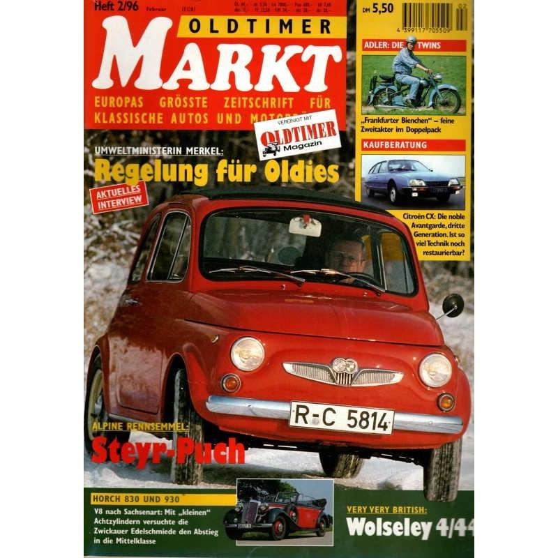 Oldtimer Markt Heft 2/Februar 1996 - Steyr-Puch