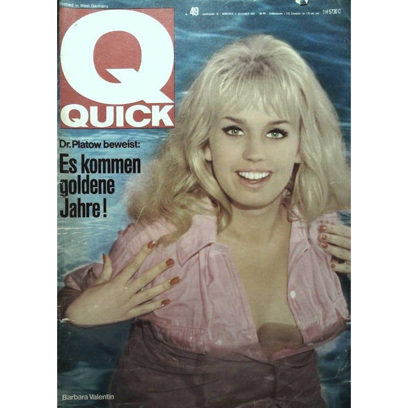 Quick Heft Nr.49 / 5 Dezember 1965 - Barbara Valentin