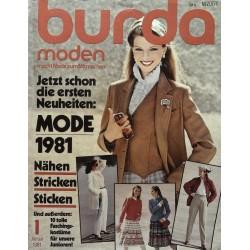 burda Moden 1/Januar 1981 - Mode 1981