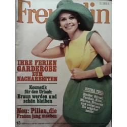 freundin Heft 13 / 18 Juni 1968 - Hüte, Taschen, Kleider...