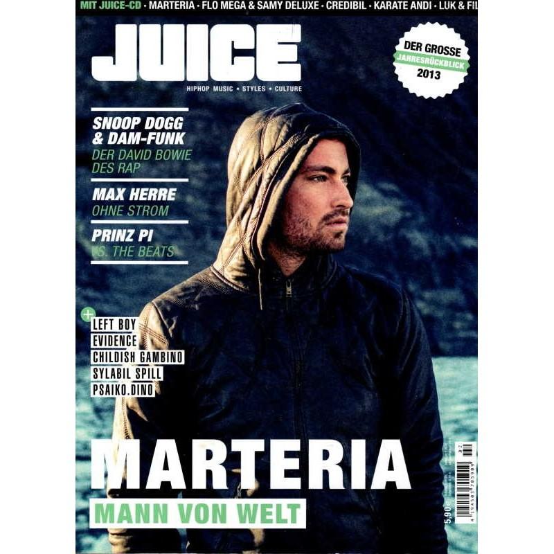 JUICE Nr.156 Januar/Februar 2014 & CD 121 - Marteria