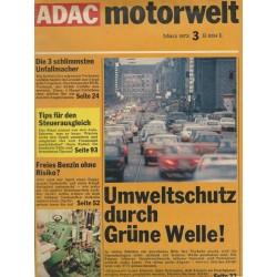 ADAC Motorwelt Heft.3 / März 1973 - Umweltschutz durch Grüne Welle!