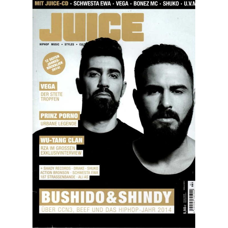 JUICE Nr.164 Januar/Februar 2015 & CD 126 - Bushido & Shindy