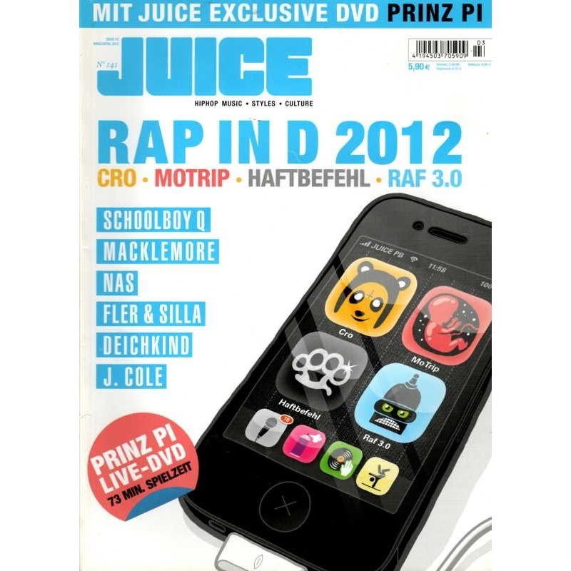 JUICE Nr.141 März/April 2012 & CD - RAP in D 2012