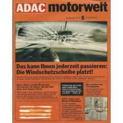ADAC Motorwelt Heft.8 / August 1975 - Die Windschutzscheibe platzt!