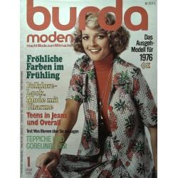 burda Moden 1/Januar 1976 - Farben im Frühling