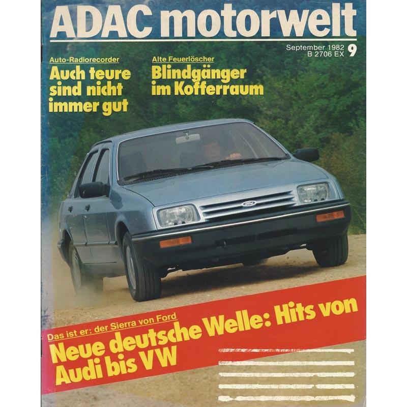 ADAC Motorwelt Heft.9 / September 1982 - Hits von Audi bis VW