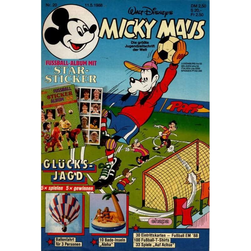 Micky Maus Nr. 20 / 11 Mai 1988 - Star Sticker