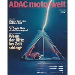 ADAC Motorwelt Heft.7 / Juli 1980 - Wenn der Blitz ins Zelt schlägt