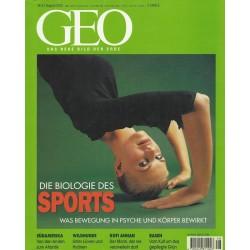 Geo Nr. 8 / August 2001 - Die Biologie des Sports