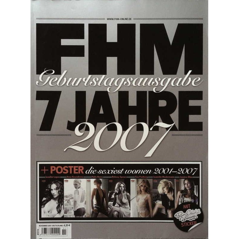 FHM November 2007 - Geburtstagsausgabe