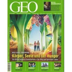 Geo Nr. 4 / April 2005 - Körper, Seele und der Hunger