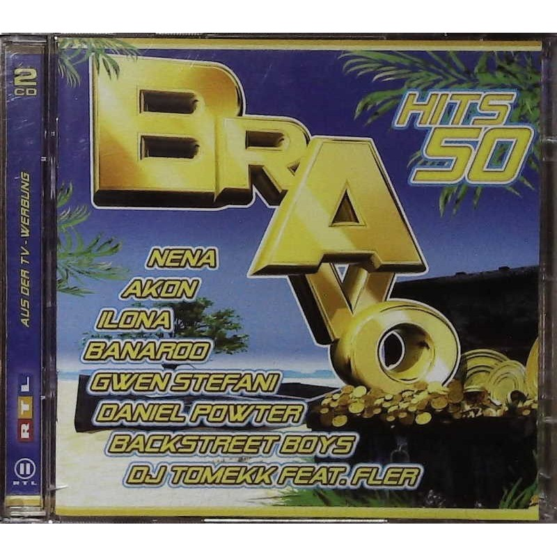 Bravo Hits 50 / 2 CDs - Nena, Akon, Backstreet Boys, Ilona...