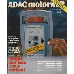 ADAC Motorwelt Heft.6 / Juni 1980 - Parken darf kein Luxus werden!
