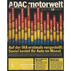 ADAC Motorwelt Heft.10 / Oktober 1977 - Soviel kostet ihr Auto im Monat