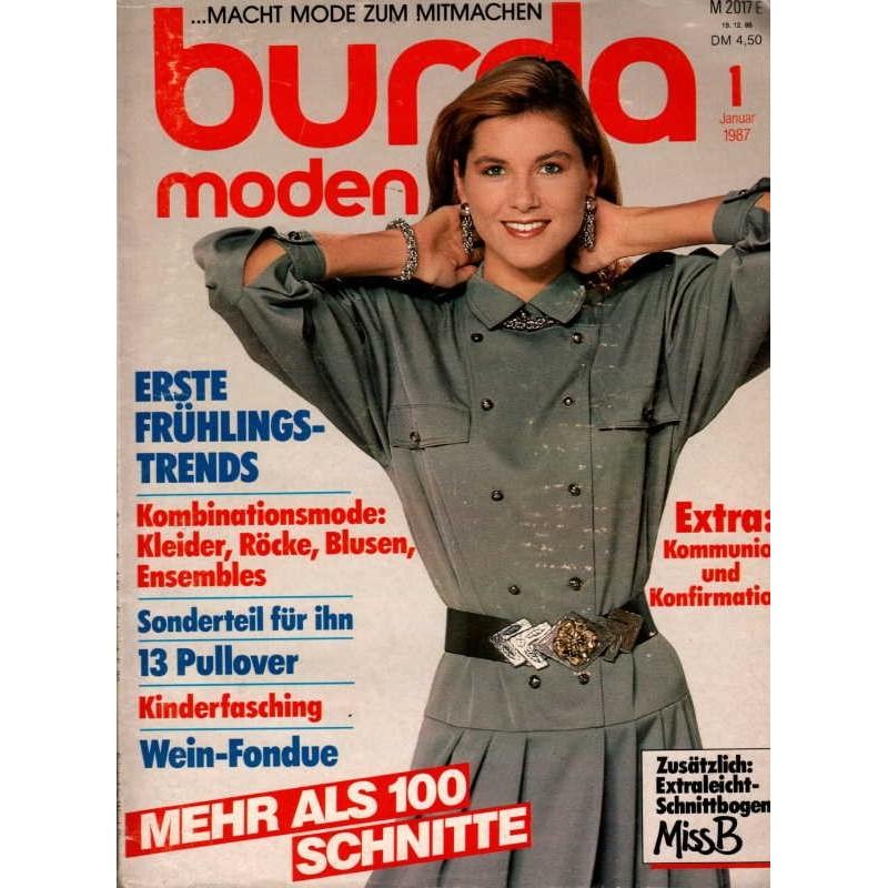 burda Moden 1/Januar 1987 - Kombinationsmode