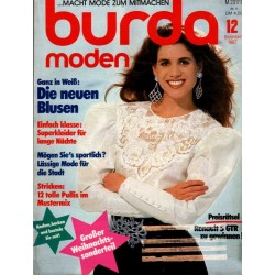 burda Moden 12/Dezember 1987 - Die neuen Blusen