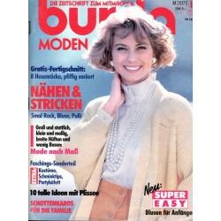 burda Moden 1/Januar 1991 - Nähen & Stricken