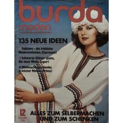 burda Moden 12/Dezember 1976 - Folklorekleid
