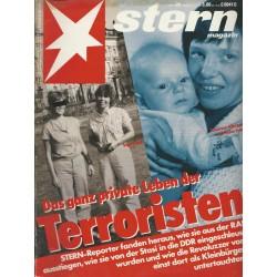 stern Heft Nr.26 / 21 Juni 1990 - Das ganz private Leben der Terroristen