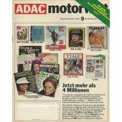 ADAC Motorwelt Heft.9 / September 1975 - Jetzt mehr als 4 Millionen