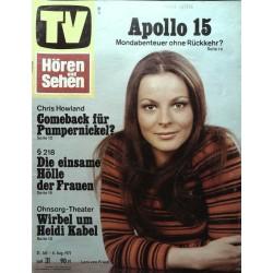 Fernsehwoche Nr. 31 / 31 Juli bis 6 August 1971 - Loni von Friedl