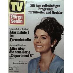 TV Hören & Sehen Nr. 52 / 26 Dez. bis 1 Jan. 1971 - Rosemary Nicols