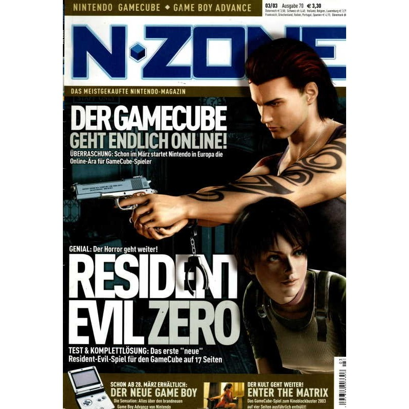 N-Zone 3/2003 - Ausgabe 70 - Resident Evil Zero