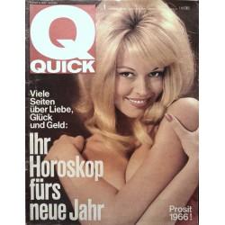 Quick Heft Nr.1 / 2 Januar 1966 - Prosit 1966!