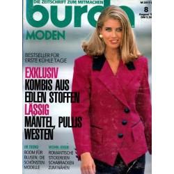 burda Moden 8/August 1992 - Mäntel, Pullis, Westen
