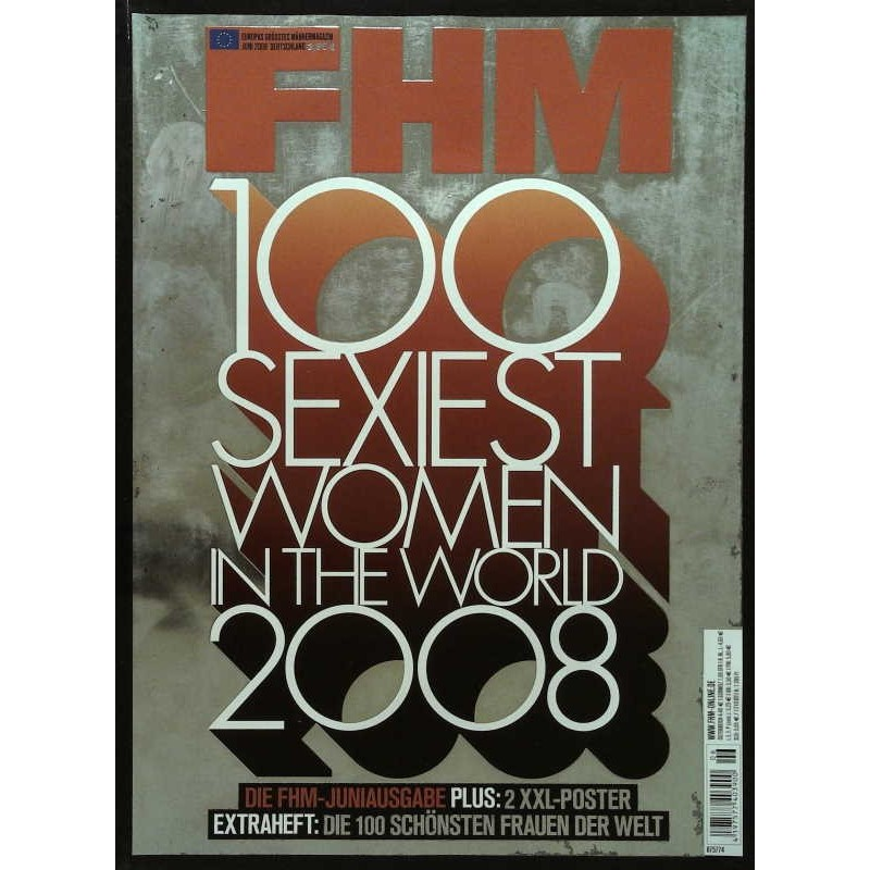 FHM Juni 2008 - 100 Sexiest Woman in the World