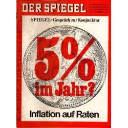 Der Spiegel Nr.39 / 21 September 1970 - Inflation auf Raten