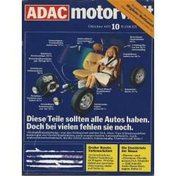 ADAC Motorwelt Heft.10 / Oktber 1975 - Diese Teile sollten alle Autos haben.