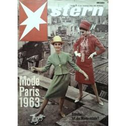 stern Heft Nr.9 / 3 März 1963 - Mode Paris 1963