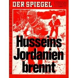 Der Spiegel Nr.40 / 28 September 1970 - Husseins Jordanien brennt