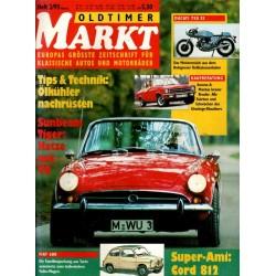 Oldtimer Markt Heft 2/Februar 1993 - Sunbeam Tiger V8
