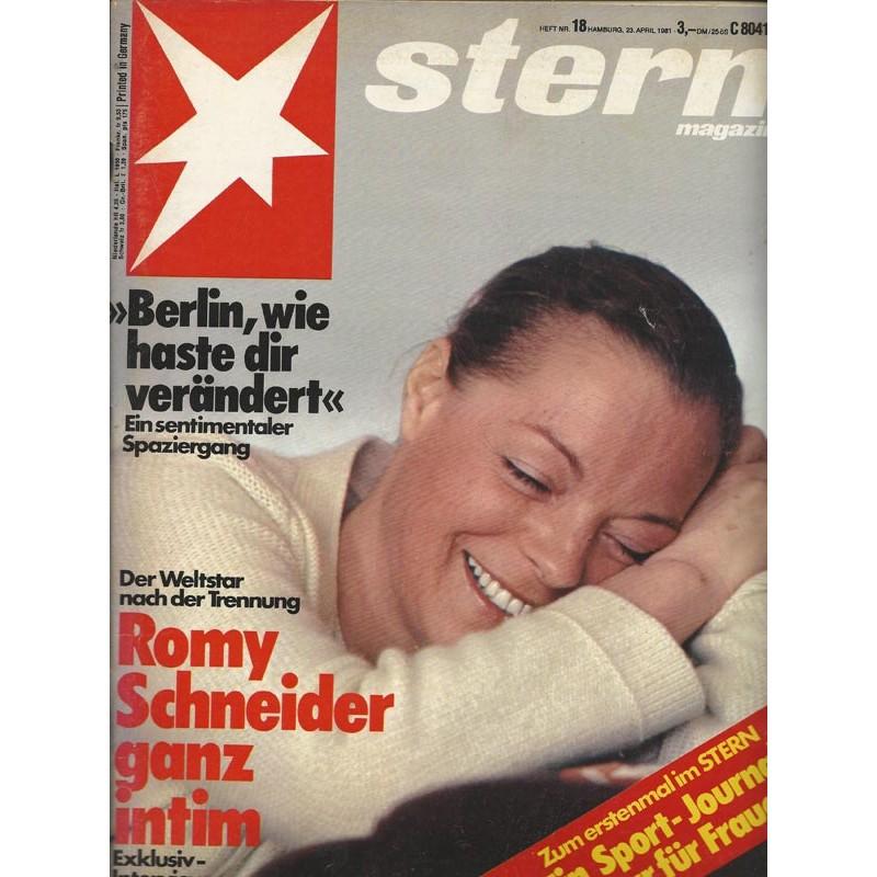 stern Heft Nr.18 / 23 April 1981 - Romy Schneider ganz intim