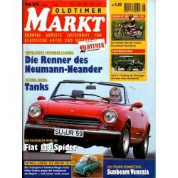 Oldtimer Markt Heft 8/August 1996 - Fiat 124 Spider