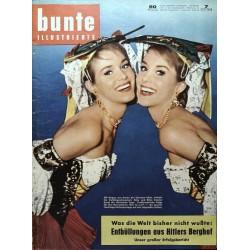 Bunte Illustrierte Nr.7 / 15 Februar 1958 - Alice und Ellen Kessler