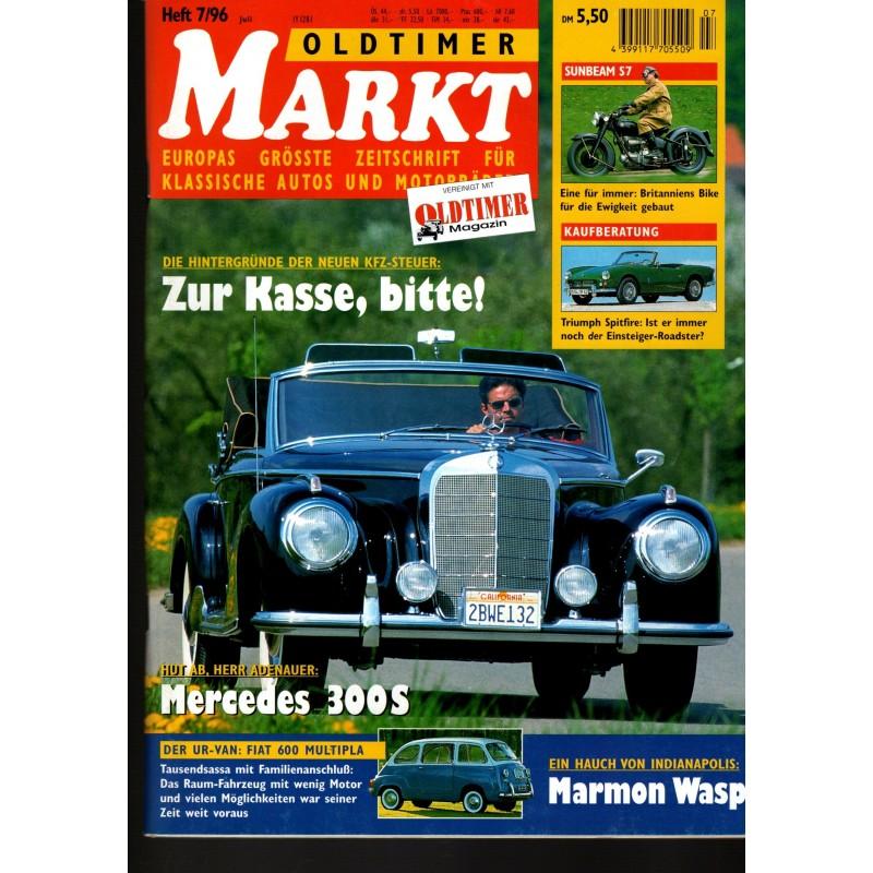 Oldtimer Markt Heft 7/Juli 1996 - Mercedes 300S